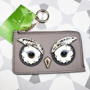 Kate Spade Owl Poppy Star Bright Key Chain Wallet